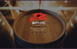 Website Age Verification for Warr-King Wines